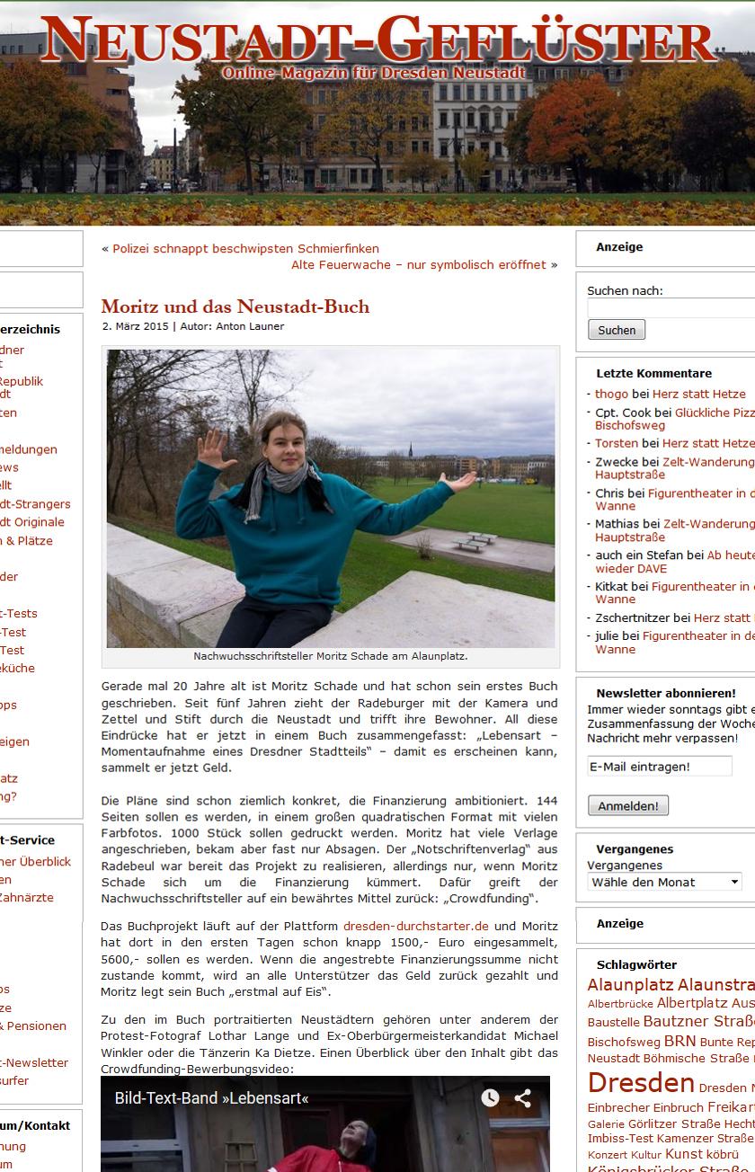 Artikel im Online-Magazin Neustadt-Geflüster