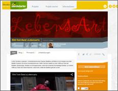 Die Crowdfunding-Seite