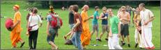 Tanzende Menschen im Alaunpark
