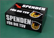 Spendenbox für die TSV Radeburg