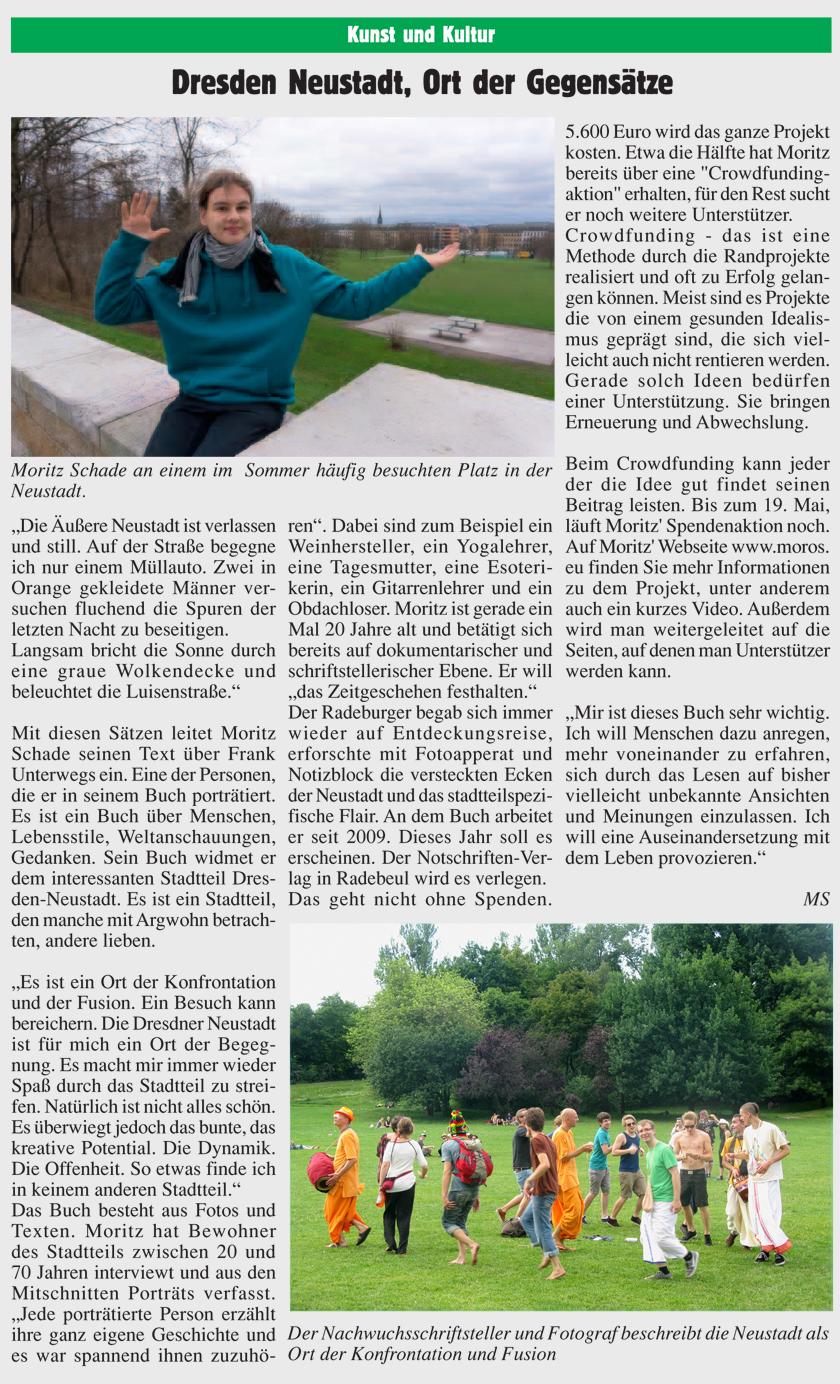 Artikel im Radeburger Anzeiger
